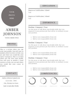 Resume Templates and Resume Examples - Resume Tips Microsoft Resume Templates, Resume Template Free, Free Resume Examples, Professional Profile, Education Degree, Photo Focus, Resume Tips, Resume Design, Clean Design