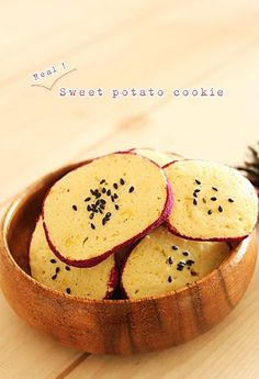Sweet Potato Cookies, Sweet Desserts, Korean Food, Food Plating, Asian Recipes, Cake Recipes, Good Food, Food And Drink, Cooking Recipes