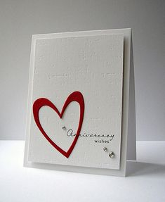 simple anniversary card - use one or two small red hearts instead of the gems in the corner