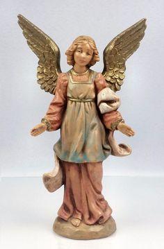 Fontanini Nativity Standing Angel 5 In Depose Italy Fountain Mark Vintage 1994 #Fontaninni