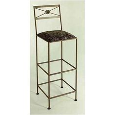 """36"""" Neoclassic Metal Bar Stool Fabric: Catwalk, Metal Finish: Cobblestone by Grace Collection. $254.99. B34-N+ -F-45 (CS) Fabric: Catwalk, Metal Finish: Cobblestone Features: -Ships fully assembled.-Artistically crafted in wrought iron. Options: -Available in 12 designer metal finishes. Color/Finish: -Painted according to your choice of metal finish. Dimensions: -Dimensions: 16.5'' W x 16 1/2'' D x 36'' H."""