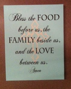 Bless the food before us family beside us and by designstudiosigns, $29.50