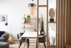 House Tour: An Oakland Apartment Shared by Two Artists Small Apartment Interior, Apartment Living, Apartment Therapy, Home Office Decor, Home Decor Kitchen, Oakland Apartment, Wood Partition, Living Room Decor, Living Spaces