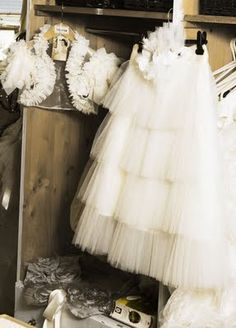 tulle skirt for your shower or rehearsal. Maybe even to change into for your reception with a vintage sparkly/crystal/beaded tank :)
