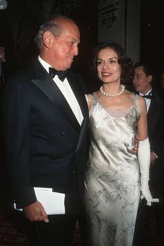 Oscar de la Renta and Bianca Jagger, 1995