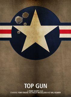 Top Gun (1986) ~ Minimal Movie Poster by Darren Cornwell