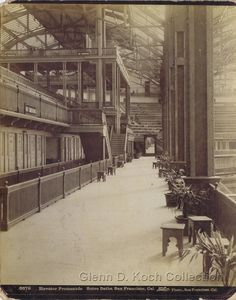 Photo of the interior of the newly completed Sutro Baths, Ocean Beach, San Francisco. Photo by Taber. Glenn D. Koch Collection