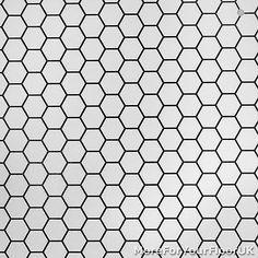 CHEAP Modern Vinyl Flooring, Black & White Hexagon Vinyl, Kitchen Bathroom Hall