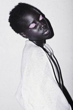 pale pink eyelids on black beauty