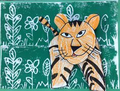 T's First Grade Class: Henri Rousseau Art Elementary Art Rooms, Art Lessons Elementary, Panda Art, Henri Rousseau, Welcome To The Jungle, Jungle Print, Arts Ed, First Grade, Grade 2