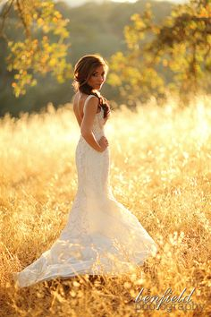 Napa Valley bridal portrait for this stunning bride - I love the light in sunny Northern California