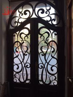 laser cut iron door