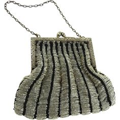 Antique Art Nouveau Beaded Bag -- found at www.rubylane.com @rubylanecom #VintageBeginsHere #artnouveau