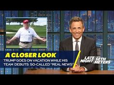"""Trump Goes on Vacation While His Team Debuts So-Called """"Real News"""": A Closer Look - YouTube"""