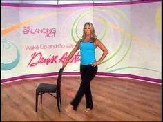 """Denise Austin gets you going in this 15-minute """"Wake Up and Go"""" workout. First you warm-up, then it's on to heart-pumping cardio, followed by a great way to shape up your legs."""
