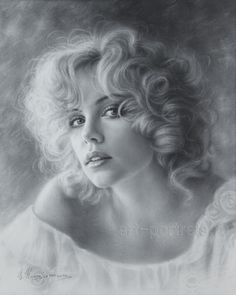 Portrait Drawing of Charlize Theron by Dry brush by Drawing-Portraits on DeviantArt