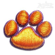 """Puff 3D Paw Print Embroidery Designs. Size"""" 1"""", .75"""" , and .5"""""""