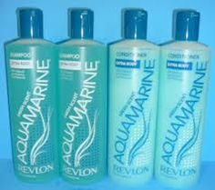 Aquamarine shampoo and conditioner