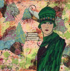 Angelina - Just Mary Designs Paris Street, Parisian, Original Art, My Arts, Mary, Nature, Painting, Inspiration, Design
