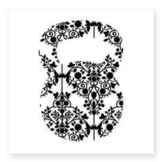 Damask Kettlebell Decal on