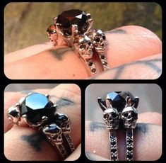 Kat Von D's black diamonds and skull engagement ring?! Incredible
