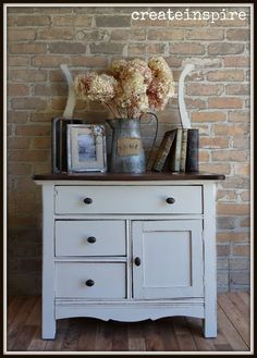 Antique Vintage Decor {createinspire}: Antique Wash Stand in Soft White Repurposed Furniture, Rustic Furniture, Antique Furniture, Painted Furniture, Modern Furniture, Home Furniture, Outdoor Furniture, Industrial Furniture, Whitewash Furniture