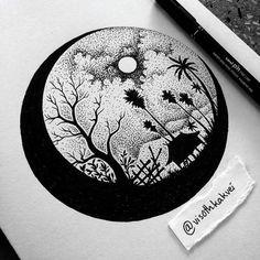Drawings by visothkakvei in 2019 dibujos con puntillismo, dibujar arte, art Dotted Drawings, Art Drawings Sketches Simple, Pencil Art Drawings, Black Pen Sketches, Tumblr Sketches, Art Drawings Beautiful, Arte Copic, Stippling Art, Doodle Art Designs