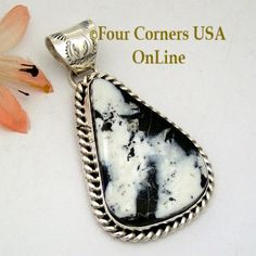 Four Corners USA Online - White Buffalo Turquoise Pendant Navajo Artisan Harry Spencer NAP-1636, $187.00 (http://stores.fourcornersusaonline.com/white-buffalo-turquoise-pendant-navajo-artisan-harry-spencer-nap-1636/)