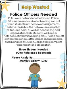 Classroom Economy and FREE Help Wanted Signs great #classroommanagement idea for upper grades