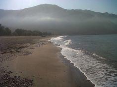 June, early morning, Eristos beach