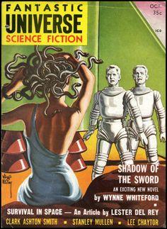 vitazur: Fantastic Universe 1958. Cover art by Virgil Finlay.