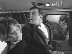 "The Twilight Zone, episode ""Nightmare at Feet"". A man (William Shatner) recovering from a nervous breakdown sees a horrifying creature on the wing of his plane. Twilight Zone Series, New Twilight, Twilight Zone Episodes, Tv Episodes, William Shatner, Illuminati, Nightmare At 20000 Feet, Creepy Facts, Anthology Series"