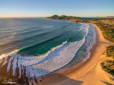 One mile beach, Forster, nsw l would love to walk a long this gorgeous beach . Beautiful and very stunning views including the locals. Places Around The World, Around The Worlds, Beach Aesthetic, Amazing Sunsets, Water Activities, Stunning View, Beautiful, Future Travel, Summer Travel
