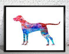 Vizsla Watercolor Print, Children's Wall, Art Home Decor, dog watercolor, watercolor painting,Vizsla art, dog poster, dog art, Vizsla poster