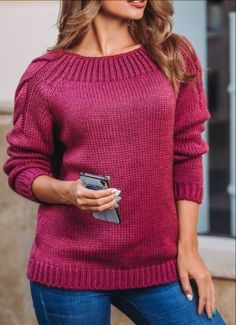 Items similar to Magenta wool sweater Knitted sweater Womens open shoulder sweater spring Handmade short cardigan Knit pullover Winter Knit sweater on Etsy Hand Knitted Sweaters, Mohair Sweater, Sweater Knitting Patterns, Wool Sweaters, Hand Knitting, Winter Sweaters, Sweaters For Women, Pull Rose, Womens Knit Sweater