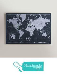 World Travel Map Pin Board - Modern Slate from Conquest Maps https://www.amazon.com/dp/B01DI2XZEY/ref=hnd_sw_r_pi_awdo_eaZNybQ8YEBA7 #handmadeatamazon