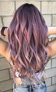 45 Hair Color Ideas and Tips for Dyeing, Maintaining Your beautiful Hair , Denim hair colors ideas are incredible, because they can be simultaneously avant-garde and also down to earth. It makes perfect since hair style ideas, Hair Color Purple, Hair Dye Colors, Cool Hair Color, Pink Hair, Purple Ombre, Beautiful Hair Color, Hair Goals Color, Long Purple Hair, Grey Ombre