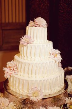 cake- really like this texture but with our gold vine(s) wrapped around the layers with  a love birds cake topper!