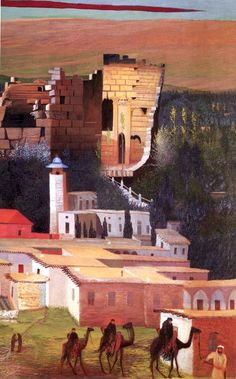 Csontváry Kosztka, Tivadar (Hungarian painter, Bird of Prey in 1893 Although Csontváry lived until he was His creative peri. Modern Art Paintings, Landscape Paintings, Landscapes, Post Impressionism, Impressionist, Baalbek, Pantheism, Temple Ruins, Modern Artists