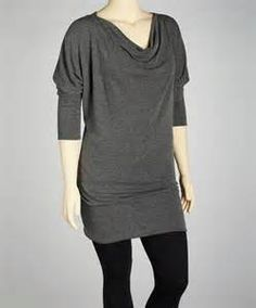 MyTribe drape tunic in charcoal - Bing Images