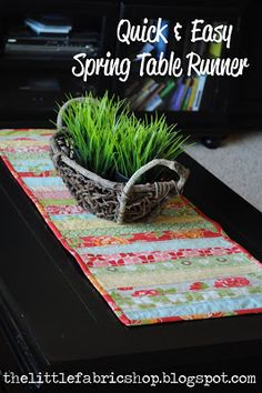 Easy and quick DIY table runner instructions.