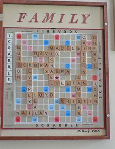 Diy Printable Scrabble Board Craft Ideas Pinterest