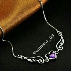 Flying Heart Necklace With Austrian Crystal