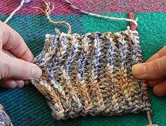 Tunisian ribbed stitch