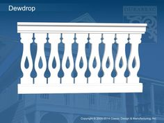 Durabrac Architectural Components :: Sawn Balusters :: Dewdrop (SB108)