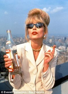 Patsy Stone in Absolutely Fabulous played by Joanna Lumley. Or just Joanna Lumley, I'm not fussy. Jennifer Saunders, Patsy Stone, Joanna Lumley, Happy Birthday Meme, Birthday Wishes, Celebs, Celebrities, Role Models, Carnival