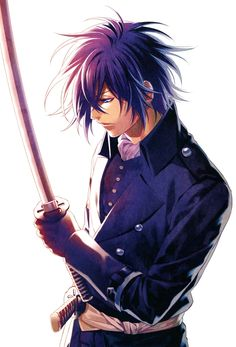 Tags: Scan, Hakuouki Shinsengumi Kitan, Kazuki Yone, Saitou Hajime (Hakuouki), Official Art, Official Character Information