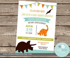 Hey, I found this really awesome Etsy listing at https://www.etsy.com/listing/183807434/dinosaur-invitation-baby-shower-bunting