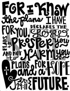 I need a reminder sometimes! Jeremiah 29:11