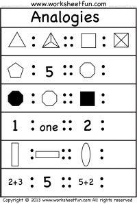 Picture Analogies – 1 Worksheet